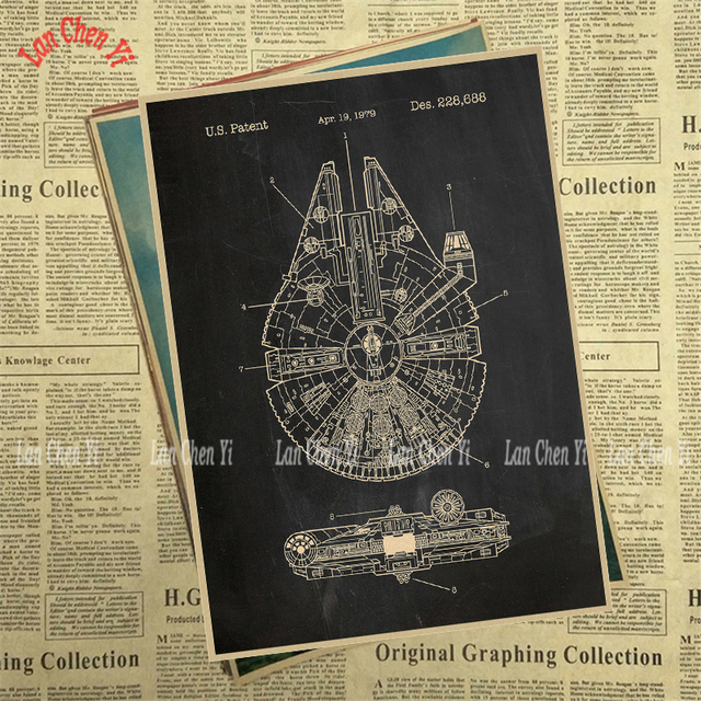 Star Wars Simple Series Kraft Paper Poster Bar Cafe Vintage High quality Printing Drawing core Decorative Painting