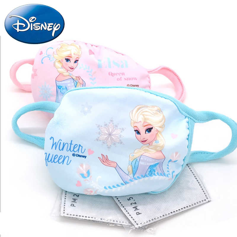 Cute Kids Cotton Anti Kawaii Mouth Elsa Disney Dust 2pcs Mask