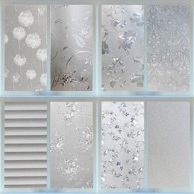 Etonnant 60x100cm More Style Static Glass Film Bathroom Windows Privacy Toilet  Living Room Office Balcony Door And Window Film N4