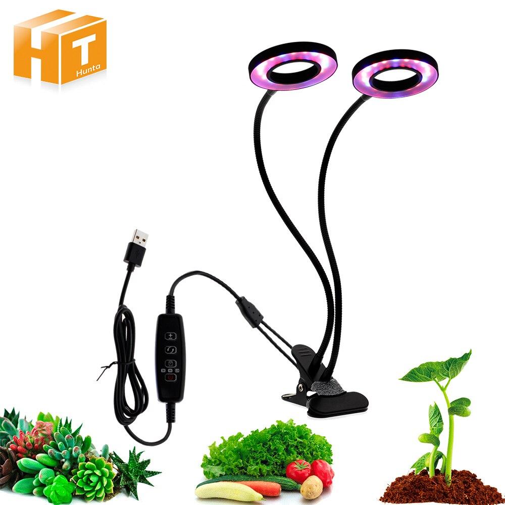 LED Grow Light With 360 Degrees Flexible Clip DC5V USB Power Supply Desktop LED Plant Growth Light.