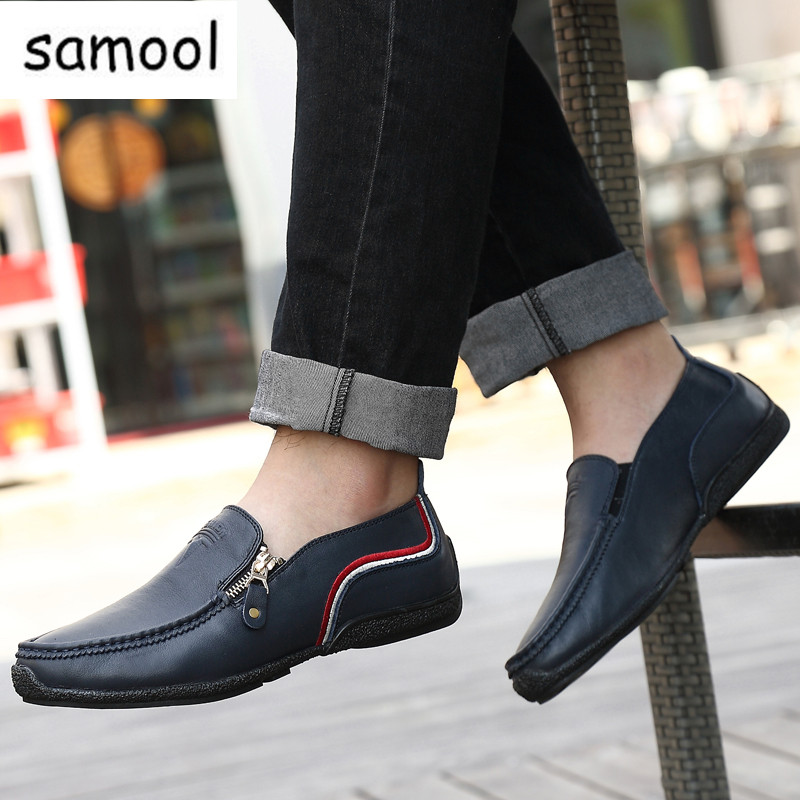 Summer Genuine leather lazy Men Loafers Handmade Moccasins breather British Style Casual Shoes Brand Mens Flats Driving Shoes 2017 men gift enmex brief design stainles steel strap creative upside down hand unique design for young fashion quartz watches