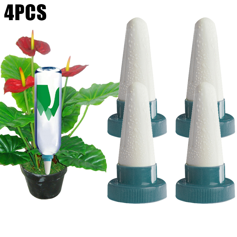 4 Pcs Ceramic Self Watering Spikes Automatic Plants Drip Irrigation Water Stakes for Indoor Outdoor HYD88