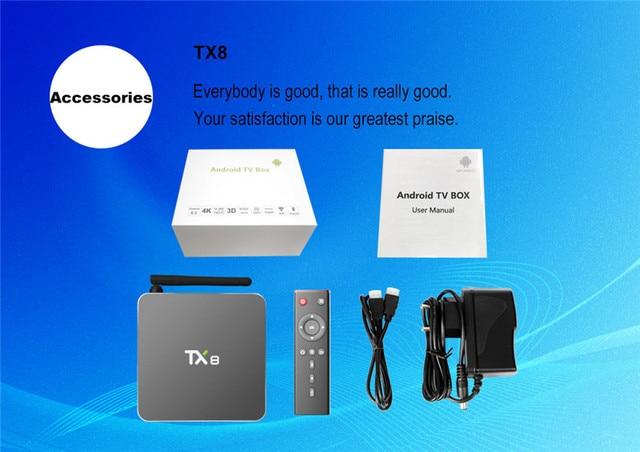 Nueva TX8 Android 6.0 Amlogic S912 Octa core Set top box 2G 32G Android TV Box HDMI H.265 WIFI Media Player Smart tv caja