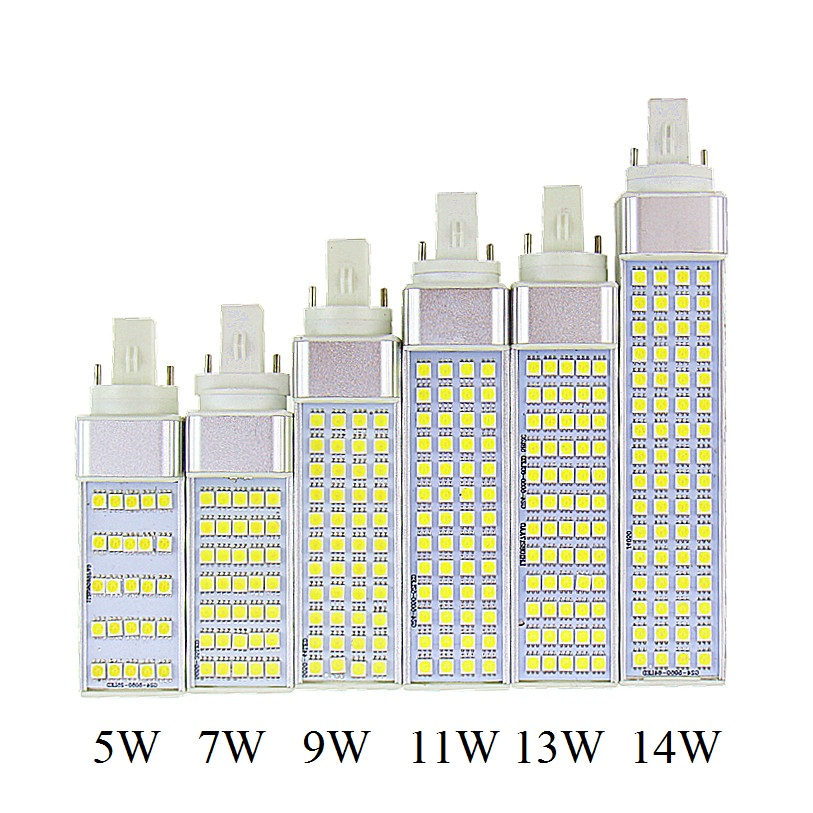 Lampada G23 G24 E27 5 W 7 W 9 W 11 W 13 W 15 W 85 V-265 V AC/AC enchufe Horizontal lámpara SMD5050 Bombillas LED bombilla de maíz luz CE RoHS