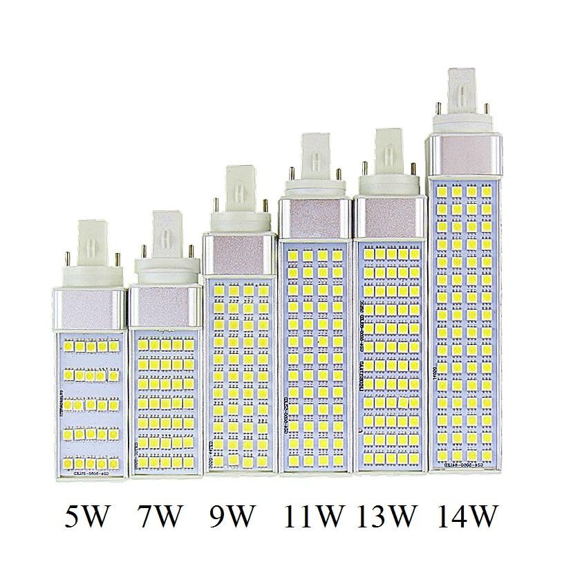 Lampada G23 G24 E27 5W 7W 9W 11W 13W 14W 85V-265V/AC Horizontal Plug lamp SMD5050 Bombillas LED Corn Bulb Spot light CE RoHS