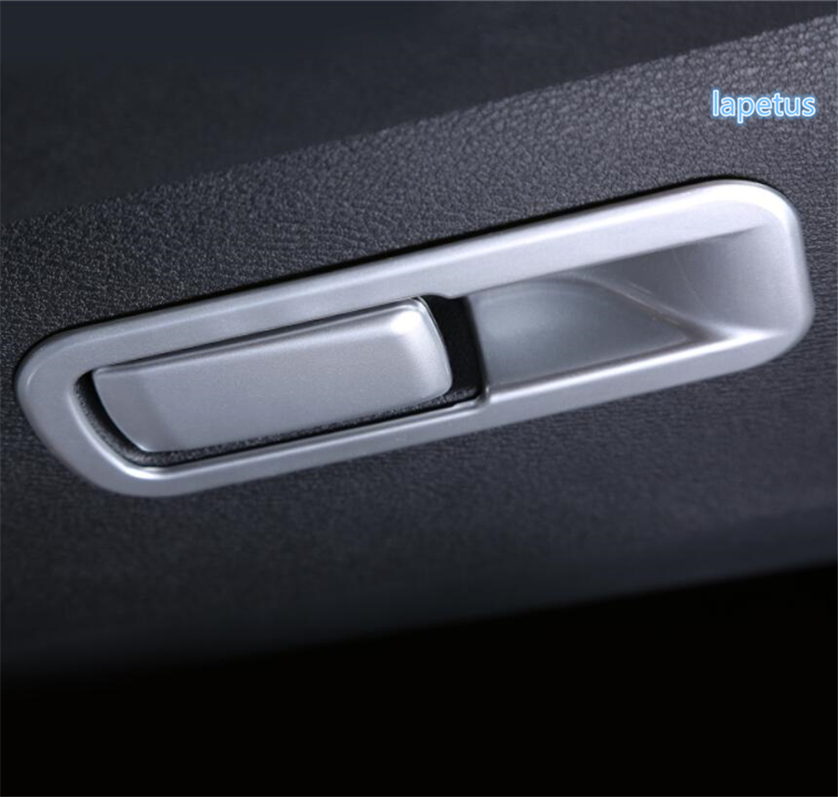 For Mercedes-Benz GLS GLE Carbon fiber Co-pilot Storage Box Handle Cover Trim