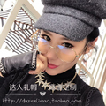 Spring net red octagonal cap in same knitting small beret hat han edition light body tide female hat