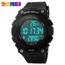 лучшая цена SKMEI Outdoor Sport LED Digital Wristwatches 3D Pedometer Watch for Men Women Chronograph Waterproof Military Army Watches Reloj