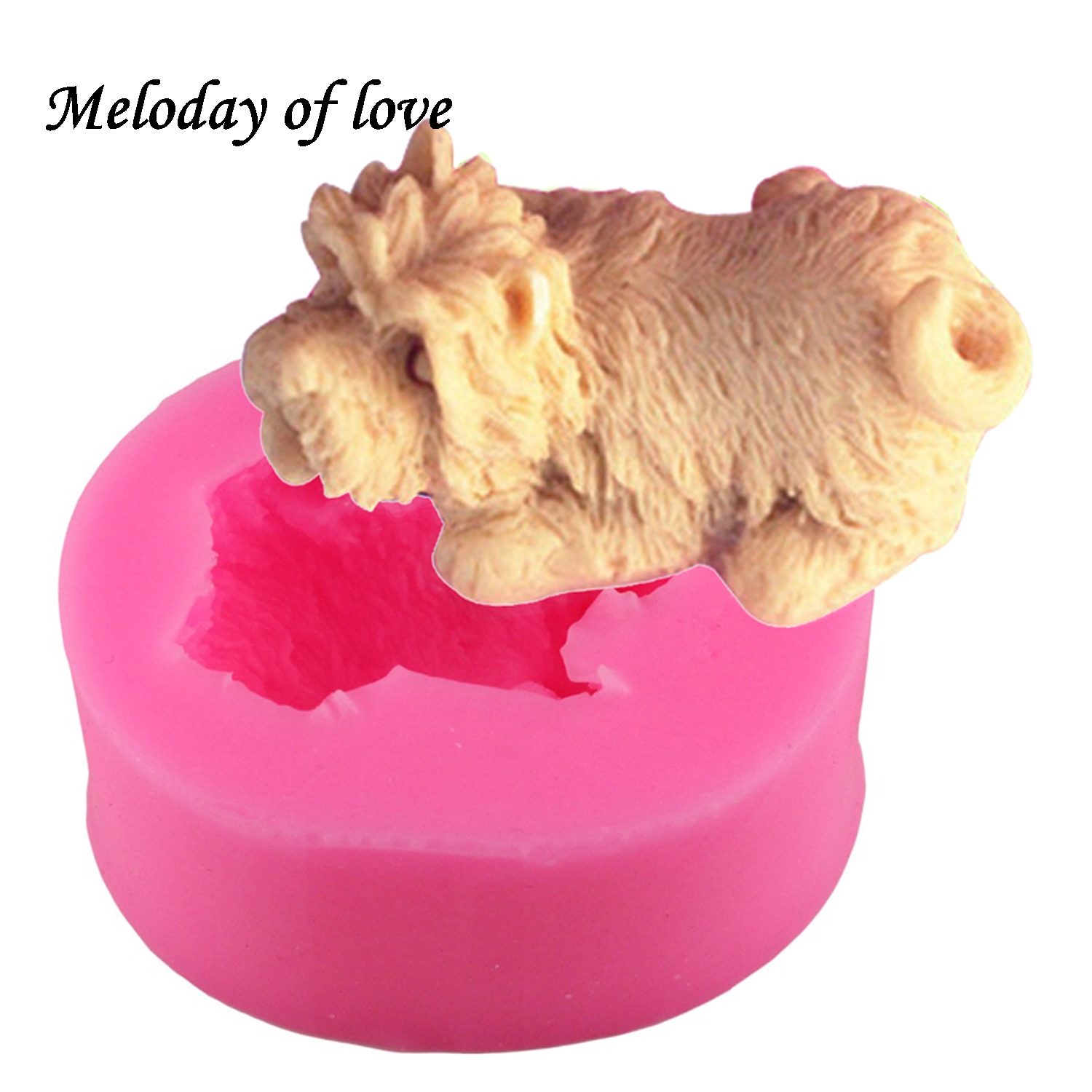 3D Ature schnauzer Dog handmade soap mold chocolate cake decorating tools DIY fondant silicone mold Flexible Baking Mold T0169