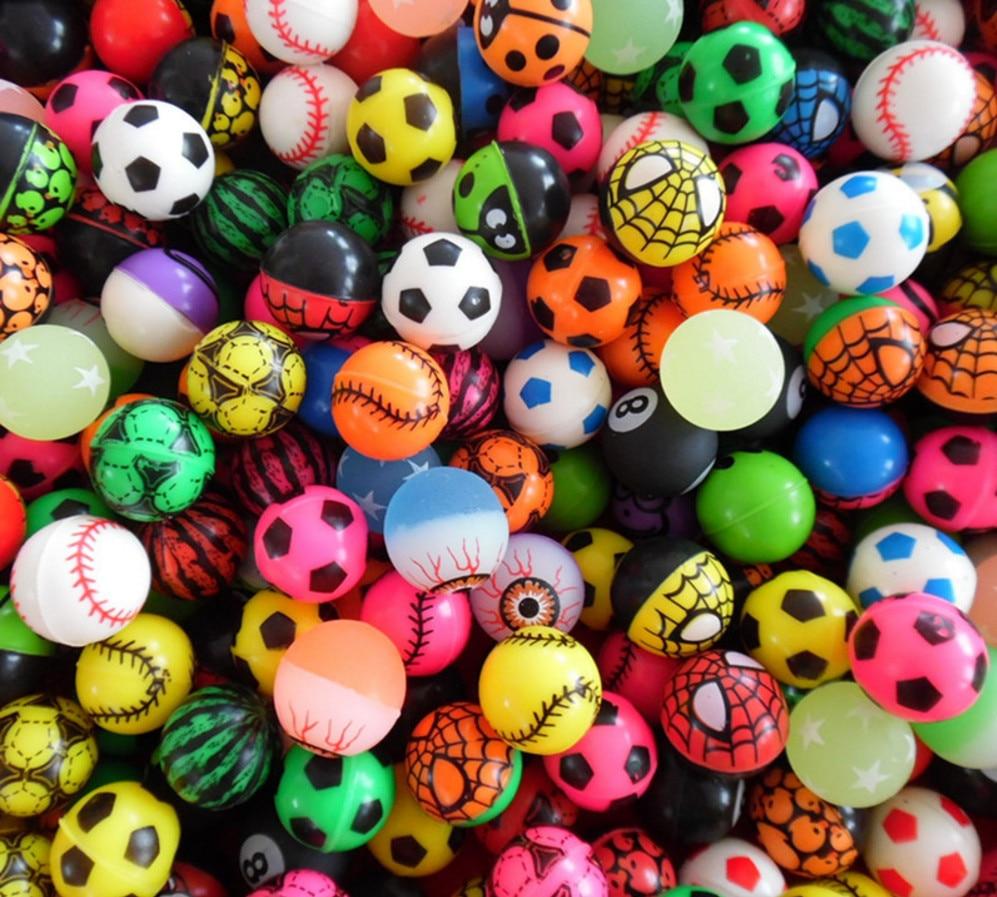 20 pcs/lot offres spéciales jouet balle mixte ballon gonflable enfant flottant élastique caoutchouc balle enfants de flipper jouets gonflables de haute qualité