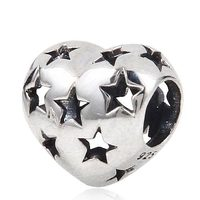 New DIY Antique Hollow Star Heart Charms Original 100 Authentic 925 Sterling Silver Beads Fits Pandoras