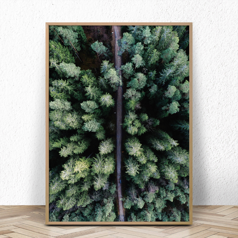 Nordic Style Forest Posters and Prints Quotes Canvas Painting Wall Art Decorative Picture for Living Room Decoration in Painting Calligraphy from Home Garden