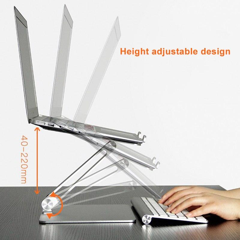 Universal Aluminum Alloy Laptop Holder Stand Foldable Adjustable Rack for Notebook Tablet JLRJ88