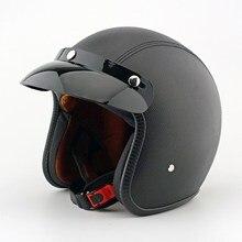 Apoyo EE Nueva Calidad Cascos de Motos de Motocross Capacete Casco De Moto de Cuero Retro Para Hombres Y Mujeres XY01