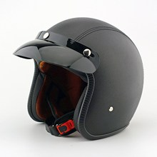 EE support New Quality Leather Motorcycle Helmet Retro Motocross Motos Helmets Capacete For Men And Women XY01