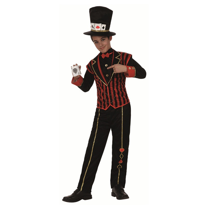 Costume Kids Magic Magician Cosplay Clothes Carnaval Love Live Cosplay Tops/Pants/Tall Paper Hat for 7 9 year BoysBoys Costumes   -