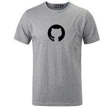 ad8211d52 new cotton short-sleeved T-shirt github octopus cat open source programmer  programming geek