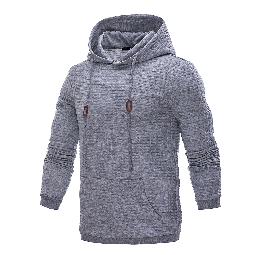 2018 New Hoodies Men Brand Male Long Sleeve Solid Color Hooded Sweatshirt Mens Hoodie Tracksuit Sweat Coat Casual Streetwear