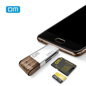 Image 3 - DM CR012 czytnik kart USB 3.0 SD/Micro SD TF OTG inteligentny karty pamięci adapter do laptopa USB 3.0 typu C czytnik kart czytnik kart SD