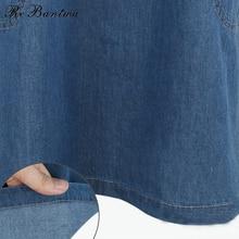 Rebantwa 2017 New Summer Dress Plus Size XL-5XL Big Pocket Dresses Women Jeans Sundress Casual Party Denim Dresses vestidos 538