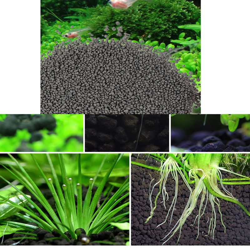 Black Aquarium Substrate Plants Fish Tank Safe Non-toxic Aquarium Gravel Long Fertility Substrate Water Plants Aquarium Products