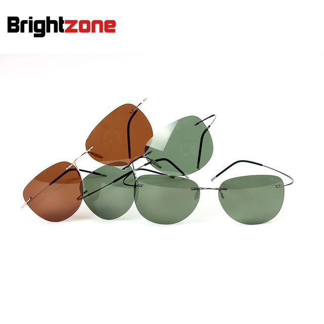 f72b5d12ec Rimless Sunglasses Titanium Polarized Sunglasses Driving Men Sunglasses  Professional Car Driving Polarize TAC Lens Men Sunglass