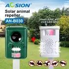 Aosion Solar ultrasónico Control de Plagas repelente de animales + blanco multifuncional/Verde Uso de jardín zorro ciervo gato perro pájaro repelente