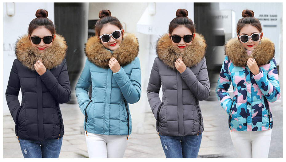 HTB1LHIzFpGWBuNjy0Fbq6z4sXXa8 2019 Winter Jacket women Plus Size Womens Parkas Thicken Outerwear solid hooded Coats Short Female Slim Cotton padded basic tops