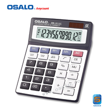 12 Digits Display Dual Power Classical Economic Calculator Accountant New Arrival Check Correct Solar Calculator OS