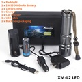 AloneFire X900 High power CREE XM-L2 LED Zoomable LED Flashlight Torch With 26650 Battery USB charge