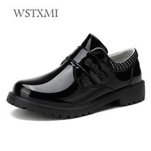 New Children Leather Shoes for Boys Patent Leather Dress School