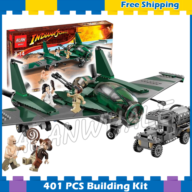 401pcs Indiana Fight On The Flying Wing Marion Ravenwood 31002 Model Building Blocks Movie Gifts Sets Compatible With Lago