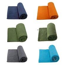 Спальный мешок из флиса Портативный Открытый спальный мешок Кемпинг путешествия теплый Ультра лёгкий спальный мешок лайнер ZR003