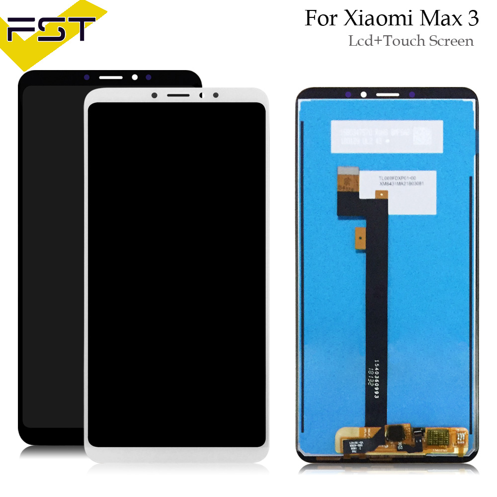 Black/White For <font><b>Xiaomi</b></font> <font><b>Mi</b></font> <font><b>Max</b></font> 3 LCD <font><b>Display</b></font>+Touch Screen Digitizer Assembly Tools Glass Panel Sensor For <font><b>Xiaomi</b></font> <font><b>Mi</b></font> Max3 image