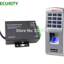 LPSECURITY аппарата контроля доступа по отпечаткам пальцев Пароль код ридер дверной замок контроля доступа по отпечаткам с блоком питания 12 v 5A