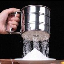 Нержавеющая сталь сито чашка порошок Мука сито Кондитерские инструменты для выпечки домашний сад кухня столовая испечь посуда торт инструменты