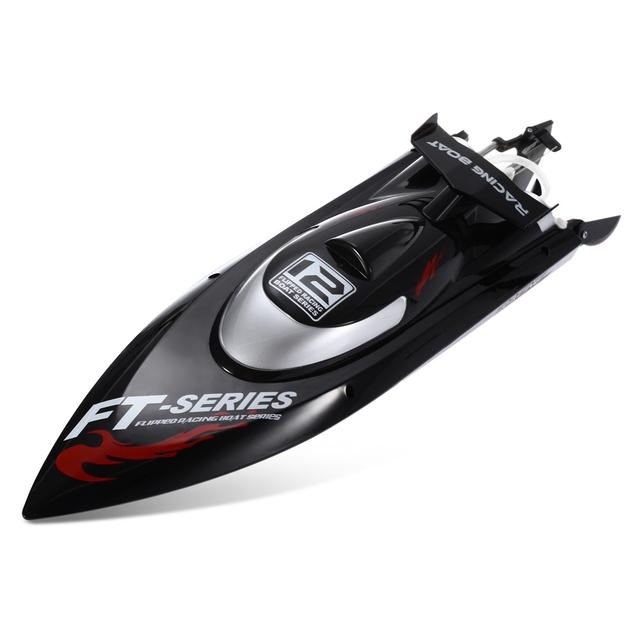 Fei Lun FT012 2.4G 4CH 45 km/h Sistema Anti-colisión Ajuste Fino Engranaje Sin Cepillo de Enfriamiento de Agua de Control Remoto carreras de Barcos