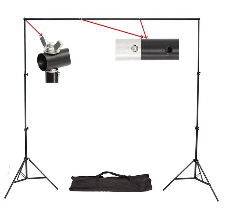 Good quality 2.6M X 3M Pro Photography Photo Backdrops Background Support System Stands For Photo Video Studio + carry bag ashanks pro photography studio photo backdrops frame background support system 2m x 2 4m stands for photo shoot carry bag