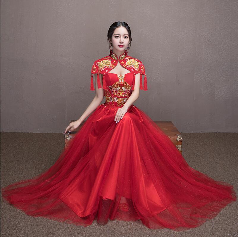 Us 120 0 Shanghai Story Traditional Chinese Wedding Dress Qipao National Costume Women Dress Overseas Chinese Style Bride Dress Cheongsam In
