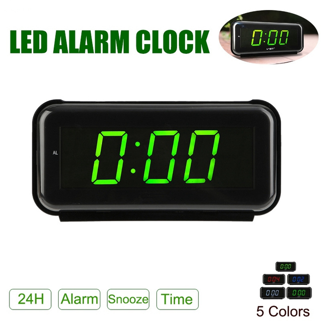 Computer & Office New Blue Backlight Digital Alarm Electronic Desktop Table Led Clock Watch Snooze Reloj Led Displays Time Electronic Adapter Tool