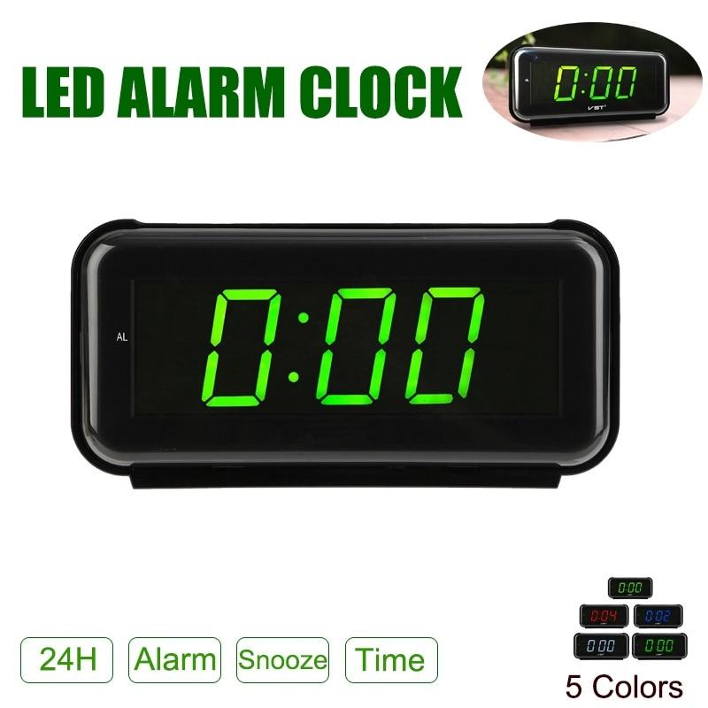 New Arrival 2018 LED Digital Dispaly Modern Clocks Snooze Alarm Clock Timer 24 Hour Desk Table Desktop Office AM/FM Radio Clock