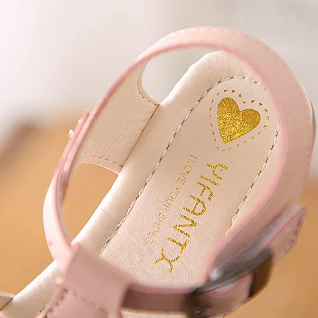 เด็กรองเท้าแตะสำหรับสาวสีชมพูเด็กทารกเด็กหญิงทอเต้นรำเจ้าหญิงรองเท้าแตะรองเท้า 2019 ฤดูร้อนเด็กใหม่รองเท้าแตะ # XTN