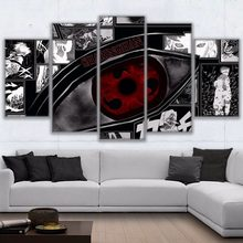 5 Pieces Modular Pictures Canvas HD Printed Anime Painting Framed Naruto Sharingan Poster Modern Home Decor Room Pictures Frame(China)