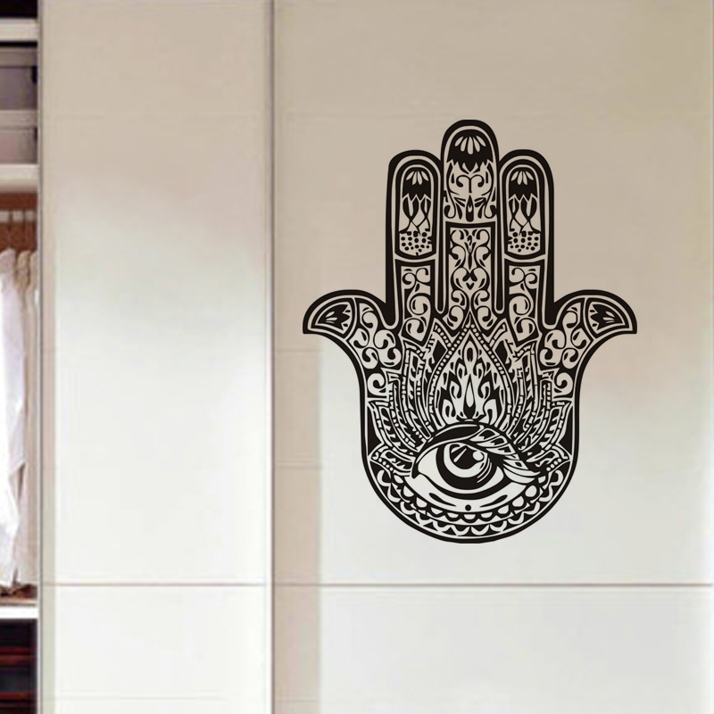 Fatima Hand Hamsa Wall Sticker Indian Buddha Home Decor Vinyl Art Murals For Livingroom