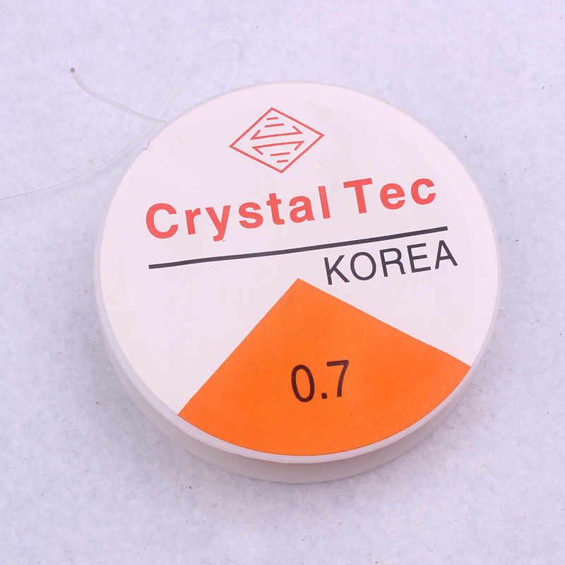 0,7mm cristal elástico cuentas línea Hilo estiramiento elástico cordón cable para DIY collar y pulsera