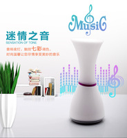 LED Night Lamp Touch Table Night Light LED Micro SD Speaker USB Rechargeable 7 Colors