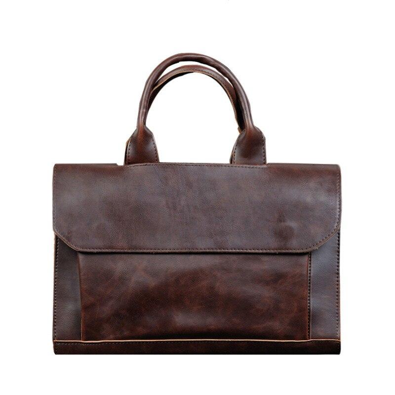 ETONTECK Men Briefcase PU Leather Shoulder Bags Vintage Brand Messenger Bag School Tote Male Travel Laptop Bag Business Handbag