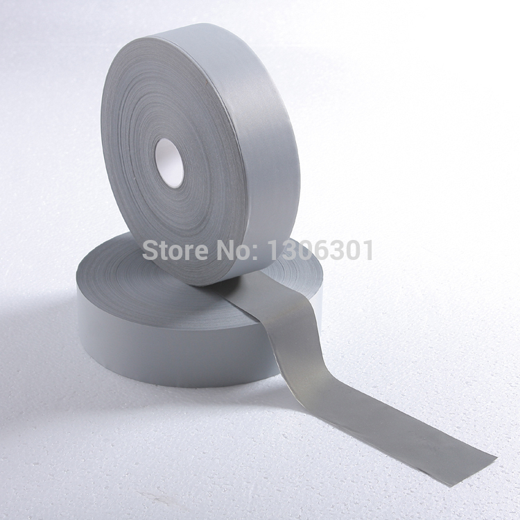 2 5cm 5M Normal light reflective chemical cloth warning reflective safety fabric reflective tape