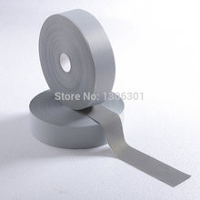 2.5cm*5M Normal light reflective chemical cloth warning reflective safety fabric reflective tape