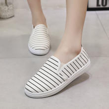 Summer Women Shoes 2019 Fashion Women's Canvas Flats Casual Shoes Gingham Flats Women Shoes Size 35 36 37 38 39 40 41(China)